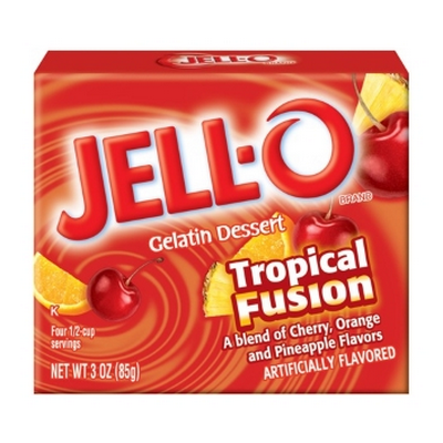 Jell-O Tropical Fusion Gelatin 85g