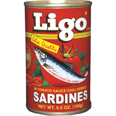 Ligo Sardines (Red) With Chili 155g