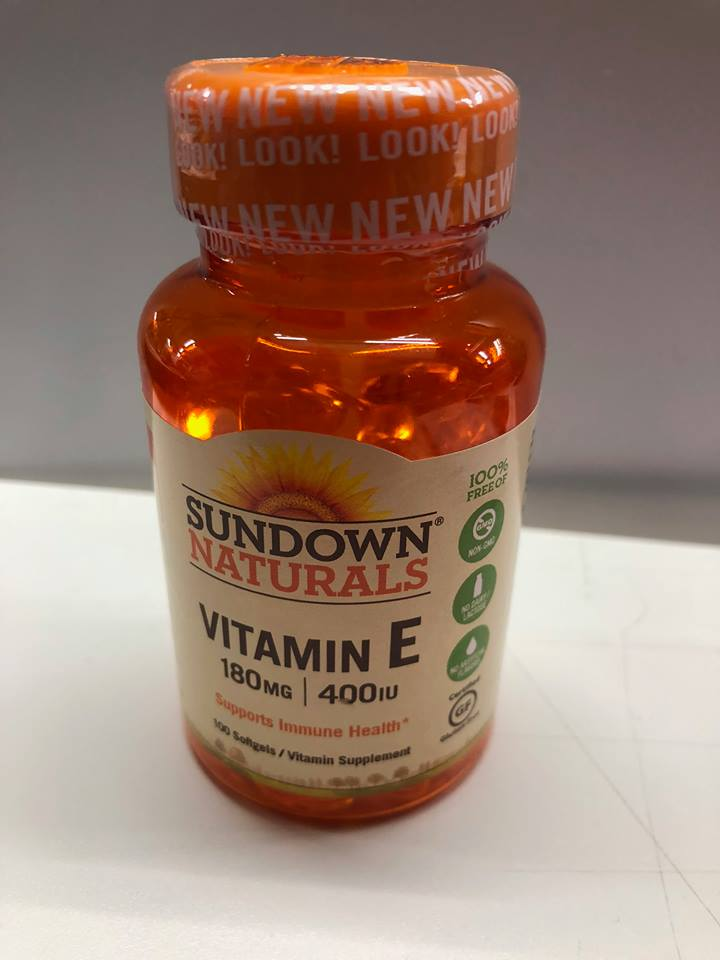 Sundown Naturals Vitamin E 180mg