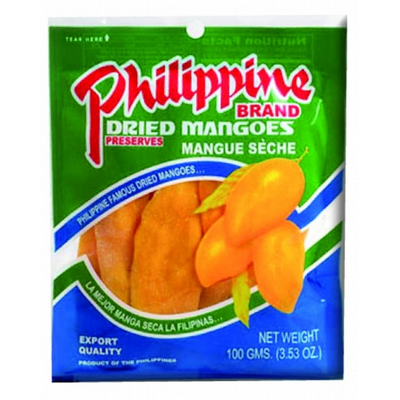 Philippine Brand Dried Mangoes 100g